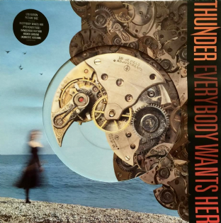 "Thunder ‎- Everybody Wants Her (12"") (Picture Disc) (EX/VG-)"